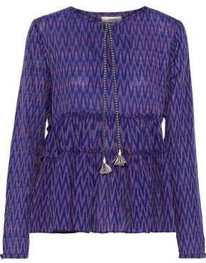Lemlem Zigy Ruffled-Trimmed Printed Cotton-Gauze Top