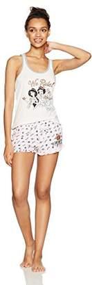 Disney Women's Princess 2 Piece Shorty Pajama Set
