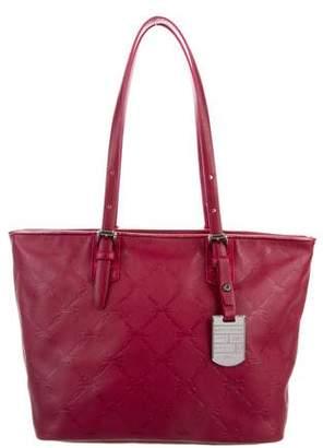 Longchamp Logo Embossed Leather Tote