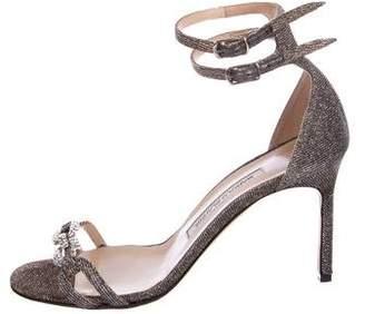 Manolo Blahnik Glitter Embellished Sandals