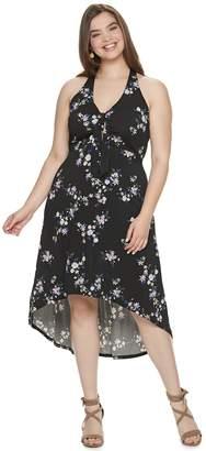 Candies Juniors' Plus Size Candie's High-Low Maxi Dress