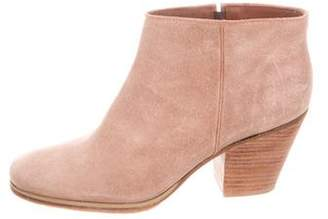 Rachel Comey Suede Square-Toe Ankle Boots