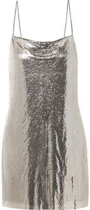 Alice + Olivia Alice Olivia - Harmony Chainmail Mini Dress - Silver