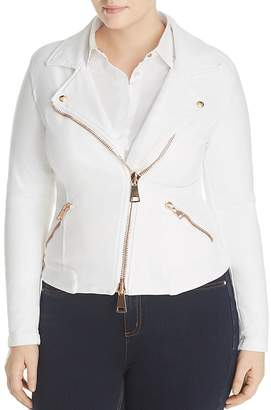 Marina Rinaldi x Ashley Graham Camogli Demin Moto Jacket