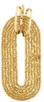 18K Diamond Mesh Chain Pendant