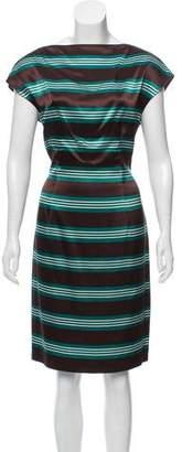 Prada Striped Satin Dress