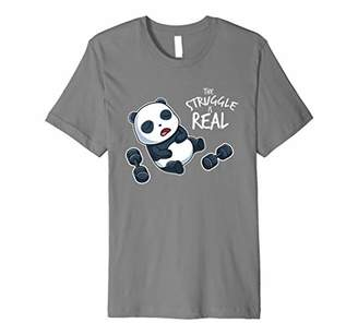 The Struggle Is Real T-Shirt Funny Gym Workout Panda Shirt