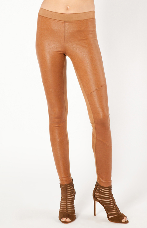 Hale Bob - Rylee Coated Leggings in Cognac