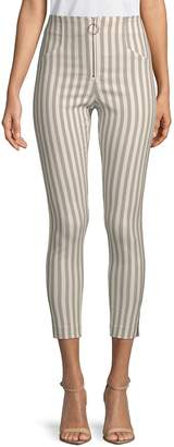 Romeo & Juliet Couture Women's High-Waisted Stripe Pants