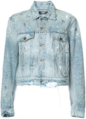 Amiri paint splattered denim jacket