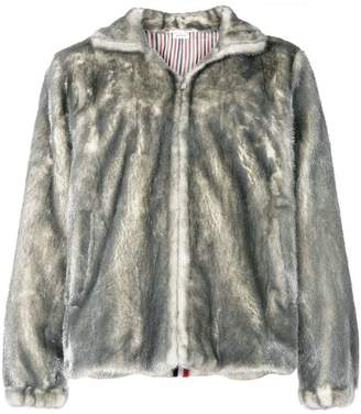 Thom Browne Painted Mink Fur Funnel Collar Jacket