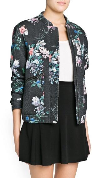 MANGO Outlet Oriental Print Bomber Jacket