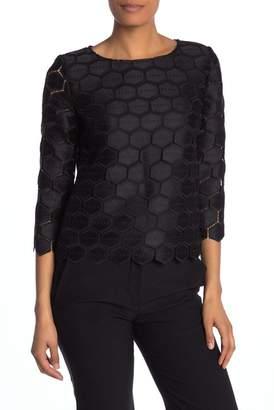 Anne Klein 3\u002F4 Sleeve Knit Blouse