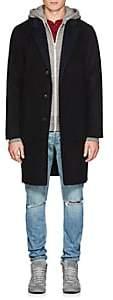 Rag & Bone Men's Principle Reversible Wool-Blend Topcoat - Black