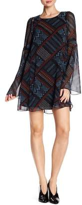 BCBGeneration Geometric Pattern A-Line Dress