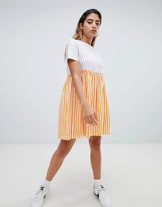 Noisy May Pop Stripe Smock Dress