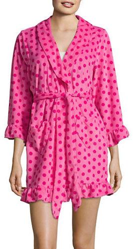 Betsey JohnsonBetsey Johnson Dotted Ruffle Robe