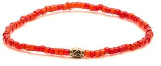Luis Morais Mini Barrel Beaded Bracelet - Mens - Red