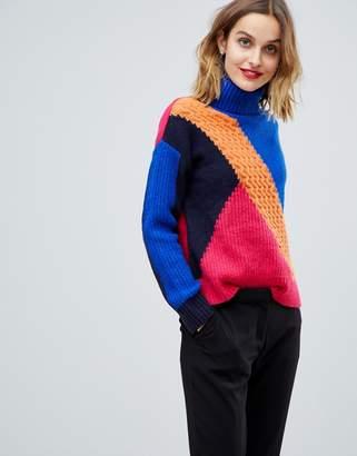 Esprit Mixed Knit Color Block Sweater