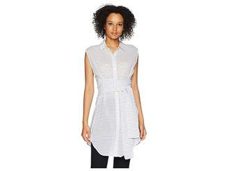 Kenneth Cole New York Wrap Button Down Tunic