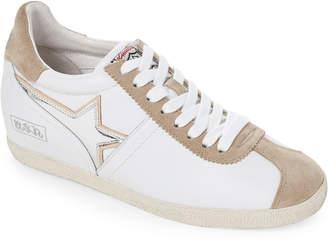 Ash White & Beige Guepard Star Wedge Sneakers
