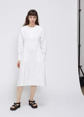 Low Classic Long Sleeve Seam Line Dress