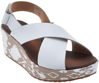 17d6c4898bb ... Clarks Leather Cross Band Wedge Sandals - Stasha Hale