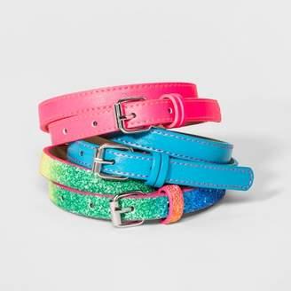 Cat & Jack Girls' 3pk Skinny Belts