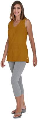 Neon Buddha Women's V-neck sleeveless Tank Top Female Cotton Blouse with Twisted Neckline and Contrast Patchwork Detail
