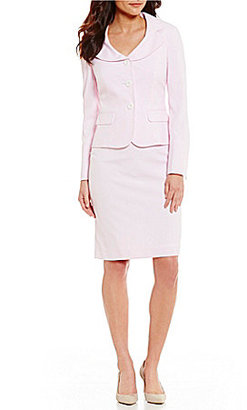 Albert Nipon Seersucker Dress Suit $275 thestylecure.com
