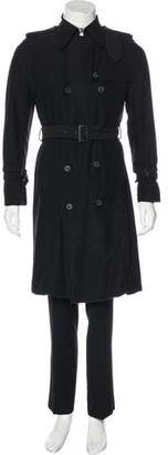 Diet Butcher Slim Skin Knit Trench Coat w/ Tags