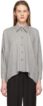 Maison Margiela Grey Wool Button-Up Shirt
