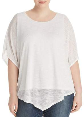Status by Chenault Plus Layered Poncho Top