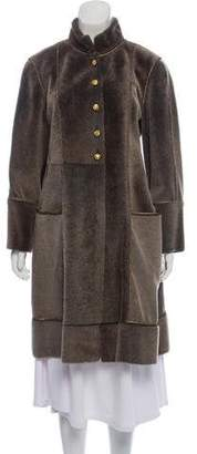 Chanel Shearling Officer's Coat
