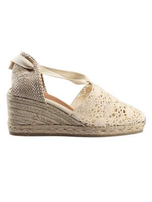 Castaner Crochet Wedge Espadrillas