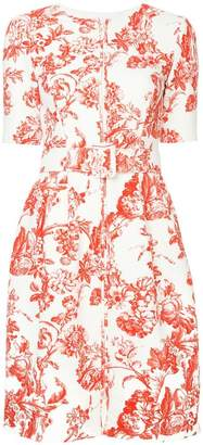 Oscar de la Renta floral toile short dress
