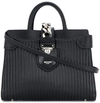 Moschino quilted logo tote bag