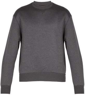Prada Pintucked-sleeve cotton-blend sweatshirt