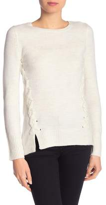 Olivia Sky Mossy Side Lace-Up Sweater
