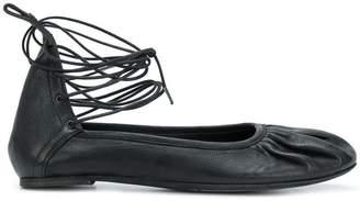 Ann Demeulemeester ankle-tied ballerinas