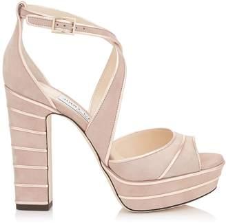 Jimmy Choo April 120 Suede Platform Sandals