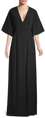 Alexis Mirren Flutter-Sleeve Maxi Dress