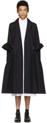 Roberts | Wood Black Cambric Side Bow Coat