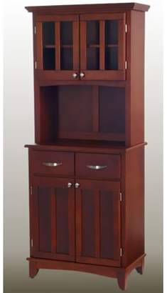 Home Styles Cherry Buffet with Cherry Top and 2-Glass Door Hutch