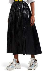 Maison Margiela Women's Pleated Tech-Taffeta Skirt - Black