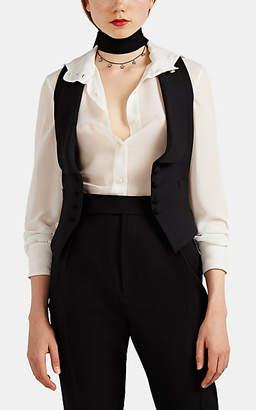 Saint Laurent Women's Suiting Wool Twill Vest - Black