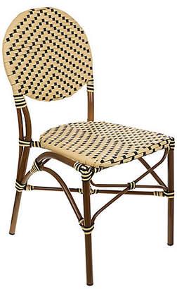 Tiab Inc. Café Outdoor Bistro Side Chair - Cream/Black