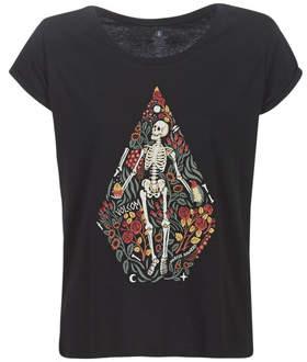 Volcom RADICAL DAZE TEE women's T shirt in Black