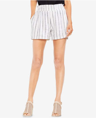 Vince Camuto Pinstriped Smocked Pull-On Shorts
