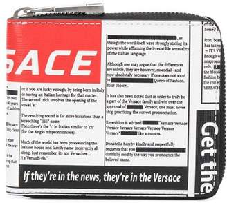 Versace tabloid print small wallet